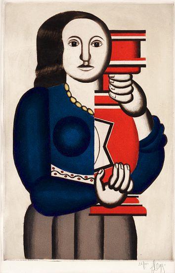Fernand Léger Lithograph, Femme a la Cruche (Woman with Jug), 1928