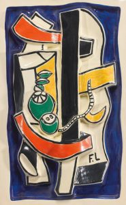 Fernand Léger Ceramic, Nature Morte aux Fruits Verts (Still Life with Green Fruits), c. 1950
