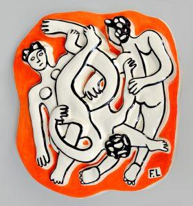 Fernand Léger Ceramic, Les Acrobates (The Acrobats), 1954