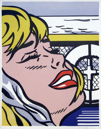 Roy Lichtenstein Lithograph, Shipboard Girl, 1965