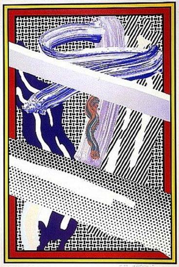 Roy Lichtenstein Screen Print, Reflections on Expressionist Painting, from The Carnegie Hall 100th Anniversary Portfolio, 1990
