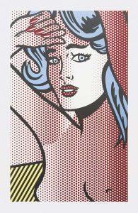 Roy Lichtenstein Screen Print, Nude with Blue Hair, 1994