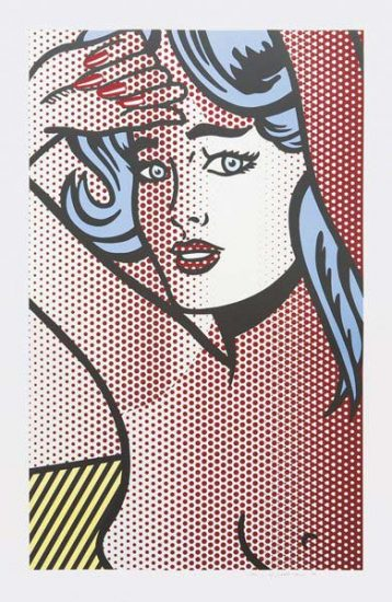Roy Lichtenstein Screen Print, Nude with Blue Hair, 1994