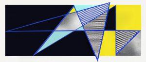 """Roy Lichtenstein Woodcut, Roy Lichtenstein Imperfect 44 3/4""""x103"""", 1988"""