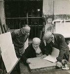 Matisse drawing on stone