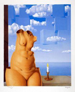 René Magritte Lithograph, La folie des grandeurs II ( Megalomania)