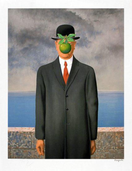 René Magritte Lithograph, Le fils de l'homme (The Son of Man)