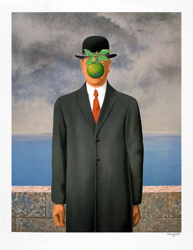 René Magritte, Le fils de l'homme (The Son of Man), Lithograph (S)