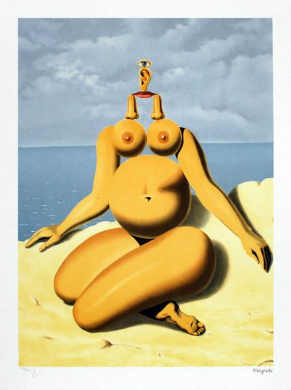 René Magritte Lithograph, La race blanche (The White Race)