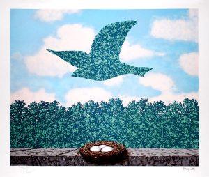 René Magritte Lithograph, Le printemps (Spring)