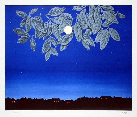 René Magritte Lithograph, La page blanche (The White Page)