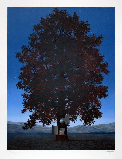René Magritte Lithograph, La voix du sang (Voice of Blood)