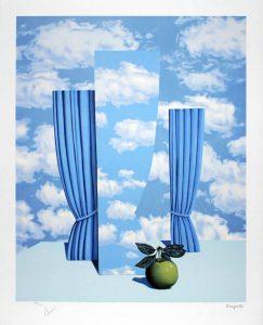 René Magritte Lithograph, Le beau monde (High Society)