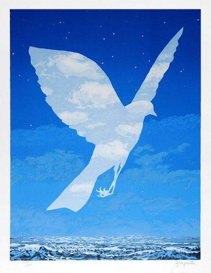 René Magritte Lithograph, L'entree en scene (The emergence)