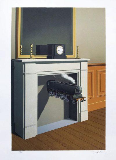 René Magritte Lithograph, Time Transfixed (La Durée poignardée)