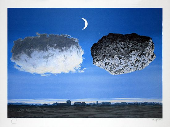 René Magritte Lithograph, La Bataille de l'Argonne (The Battle of the Argonne)