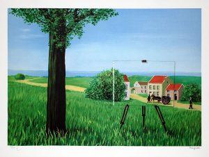 René Magritte Lithograph, La belle captive (The Fair Captive)
