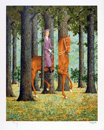 René Magritte Lithograph, Le blanc-seing (Free Hand)