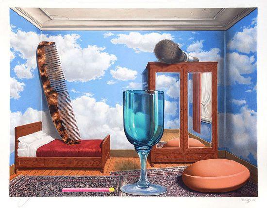 René Magritte Lithograph, Personal Values (Les valeurs personelles)