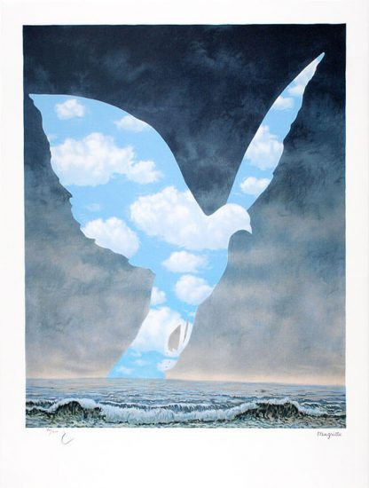 René Magritte Lithograph, La grande famille (The Great Family),1963