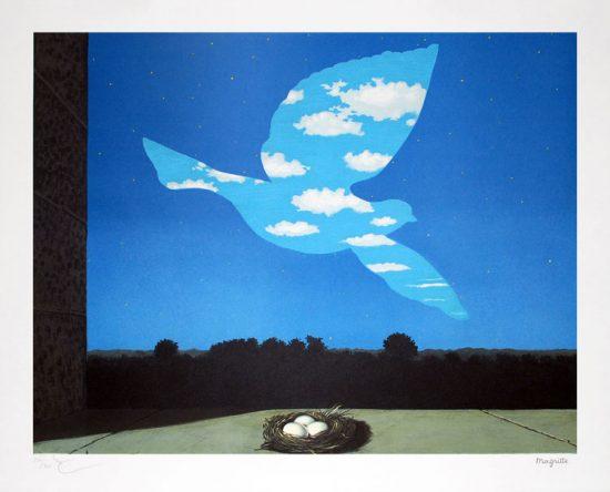 René Magritte Lithograph, Le retour