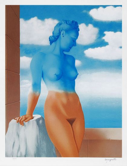 René Magritte Lithograph, La magie noir (Black Magic)