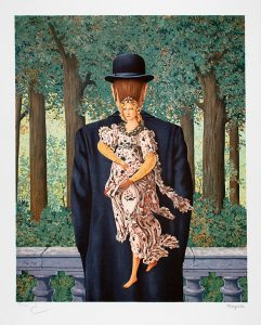 René Magritte Lithograph, Le bouquet tout fait (The Ready-Made Bouquet)