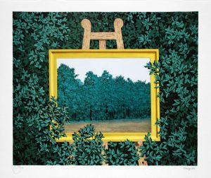 René Magritte Lithograph, La cascade (The Waterfall)