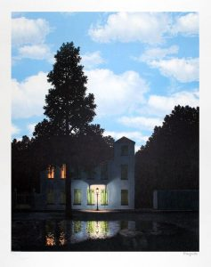 René Magritte Lithograph, L'empire des lumières (The Dominion of Lights)