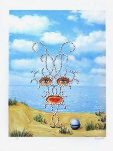 René Magritte Lithograph, Shéhérazade