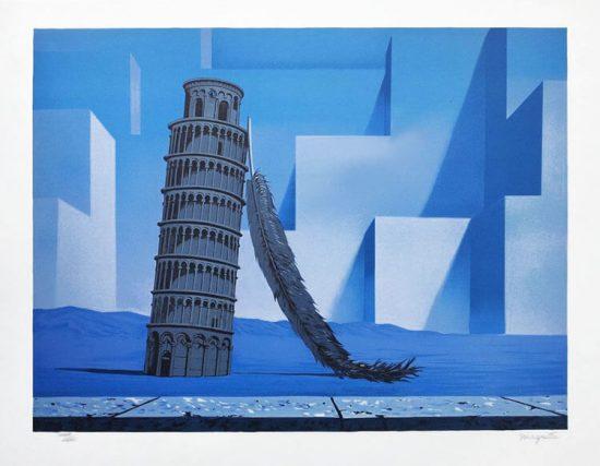 René Magritte Lithograph, Souvenir de voyage (Memory of a Journey)