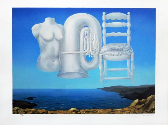 René Magritte Lithograph, Le Temps menaçant (Threatening Weather)