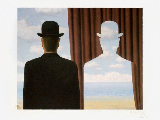 René Magritte Lithograph, Décalcomanie