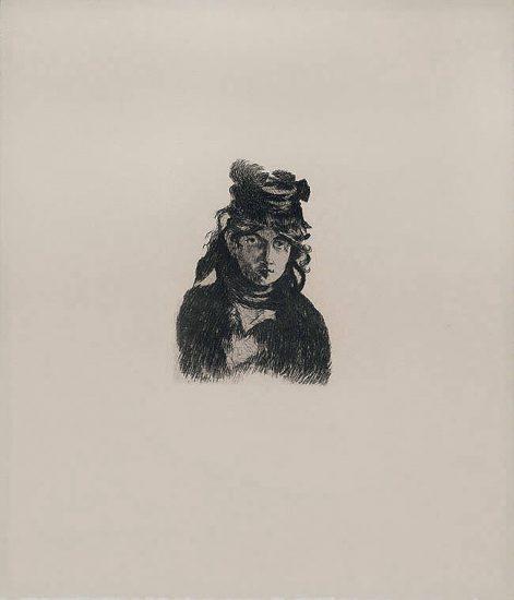 Édouard Manet Etching, Berthe Morisot