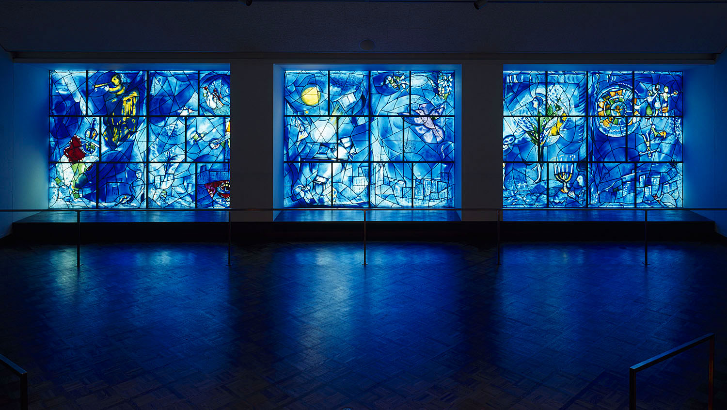 Marc Chagall Stained Glass Windows at Chicago Art Institute