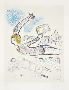 Marc Chagall Etching, Plate 2, from De Mauvais Sujets (Bad Elements), 1958