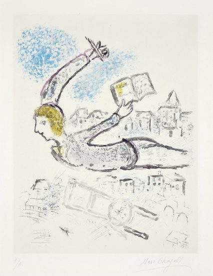 Marc Chagall Lithograph, Plate 2, from De Mauvais Sujets (Bad Elements), 1958