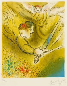 Marc Chagall Lithograph, L'ange du jugement (The Angel of Judgment), 1974