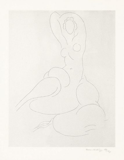 Henri Matisse Etching, Nu pour Cleveland (Nude For Cleveland), 1932