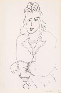 Henri Matisse Lithograph, Jeune Femme Coiffure Louis XV (Woman Hairdresser Louis XV) from Poèmes de Charles D'Orléans, 1942