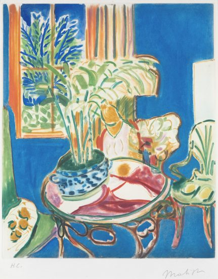 Henri Matisse Aquatint, Petit Interieur Bleu (Little Blue Interior),1952