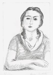 Henri Matisse Lithograph, Buste de jeune fille, les bras criosés (Bust of young girl, arms crossed), 1925