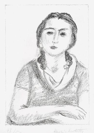 Henri Matisse Lithograph, Buste de jeune fille, les bras criosés (Bust of young girl, arms crossed), 1925