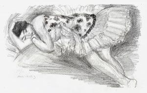 Henri Matisse Lithograph, Danseuse endormi au divan from Dix Danseuses (Dancer sleeping on couch from Ten Dancers), 1925-26