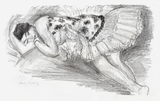 Henri Matisse Lithograph, Danseuse endormi au divan from Dix Danseuses, 1925-26