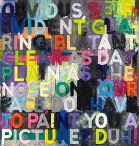 Mel Bochner Monotype, Obvious, 2017