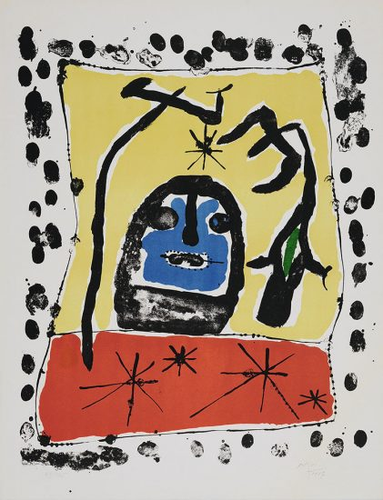 Joan Miró Lithograph, Exhibition at the Galerie Matarasso, Nice, 1957