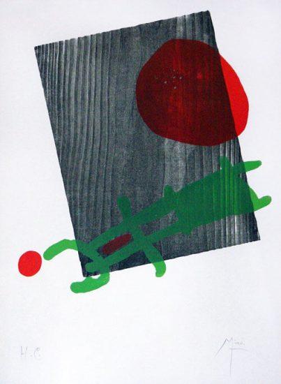 Joan Miró Woodcut, À Toute Épreuve, 1958