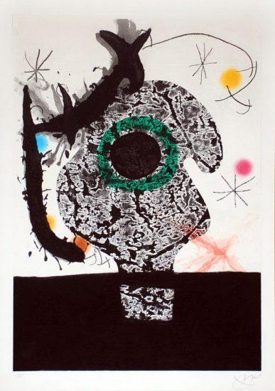 Joan Miró Etching, Polyphème, 1968