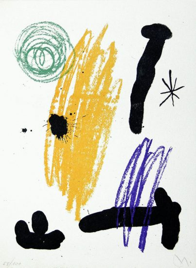Joan Miró Lithograph, Lithograph VIII from Miró, Obra Inedita Recent, 1964